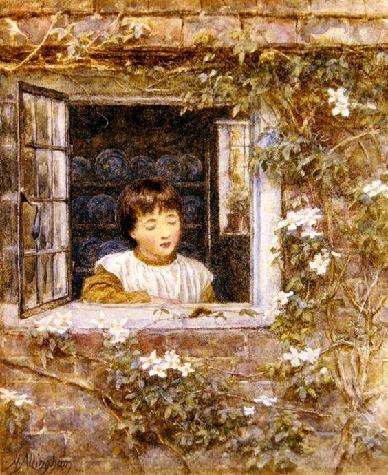 """Helen Allingham,  """"The Caterpillar"""""""