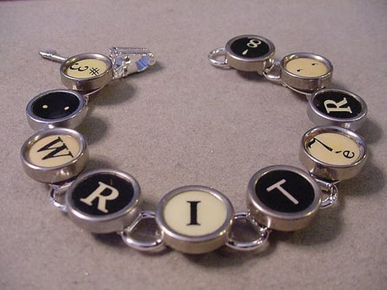 Typewriter key Jewelry Bracelet  spells WRITER  by magiccloset, $42.00