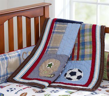 Junior Varsity Nursery Bedding #WilliamsSonoma