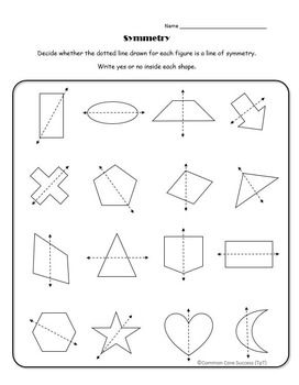 Identify Lines Of Symmetry In A Variety Of Shapes Perfect Activity As A Collaborative Independent Classw Symmetry Worksheets Symmetry Activities Symmetry Math