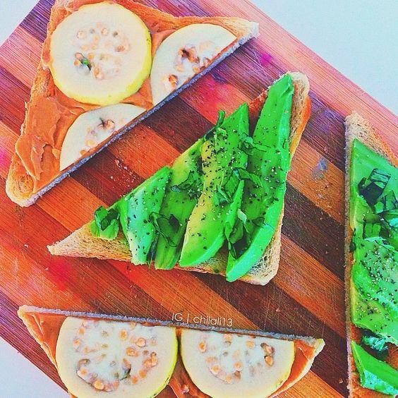 Avacado & basil Guava & peanut butter