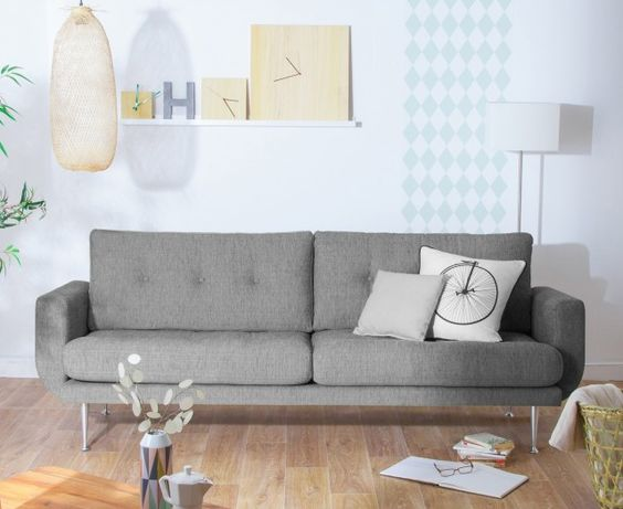 petit salon style scandinave. Black Bedroom Furniture Sets. Home Design Ideas