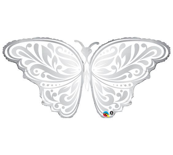 "#burtonandburton 44"" Packaged wedding butterfly shape Suprafoil balloon."
