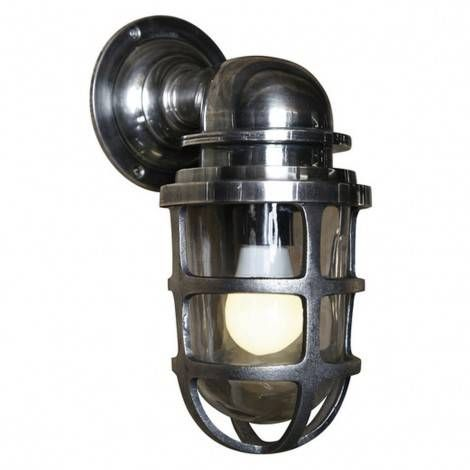 Industriele vintage stallamp newport messing   wandlamp   muurlamp ...