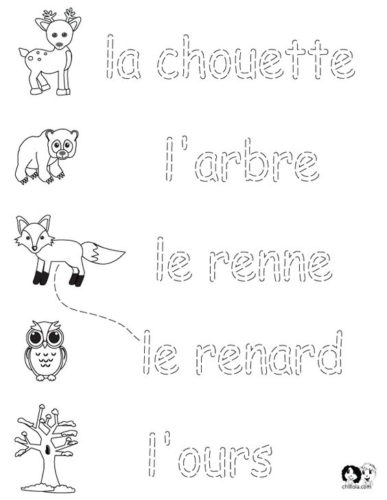 french winter animals worksheets english for children french for children german for. Black Bedroom Furniture Sets. Home Design Ideas