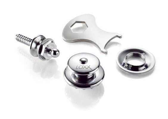 LOXX Security Locks XL,chrom  #guitarstraps straplocks #guitar #gitarre #gitarrengurt #musik