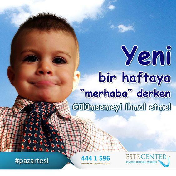 Yüzünüzden gülümsemenin eksik olmadığı #mutlu bir #hafta geçirmenizi dileriz. #estehair #pazaresi #iş www.estecenter.com - 444 1 596