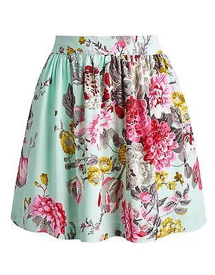 Joules-Womens-Printed-Crepe-Mini-Skirt-Invisible-Side-Zip-in-Navy-Floral-JWS1