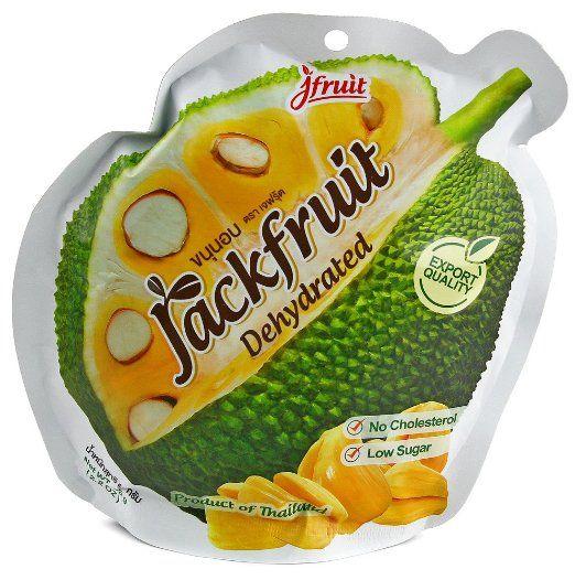 Jackfruit Dehydrated Thai Fruit Snack No Cholesterol Low Sugar 65g