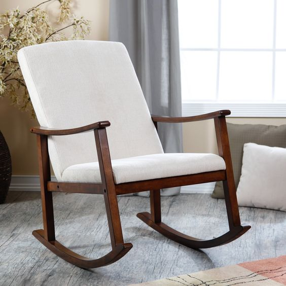 ... upholstered modern rocking chairs rocking chair rocker forward have