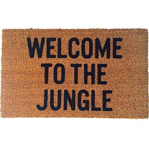 Reed Wilson Design Welcome To The Jungle Doormat Flocked