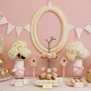 decoration pink baby shower