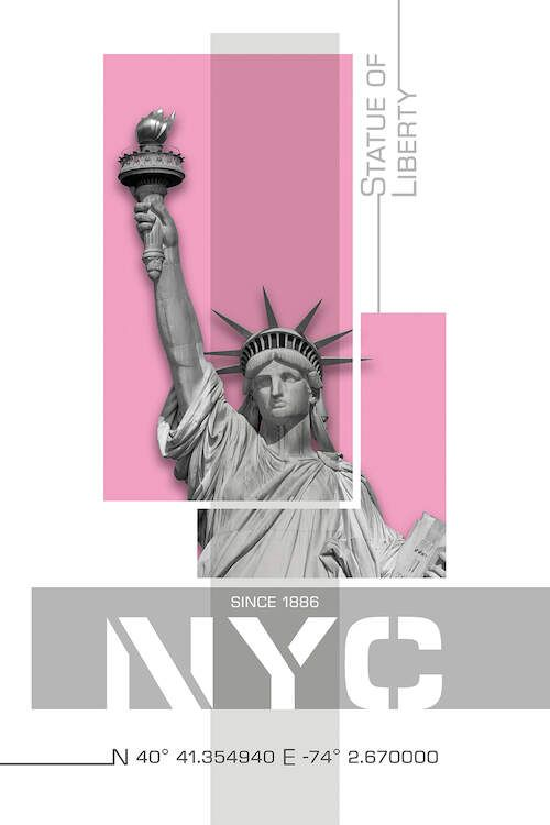 Image by Shutterstock Statue Of Liberty Graphic Design Tee Men/'s