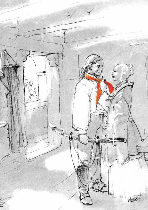 As all great stories, the story of cravat began with love. Croatian girls used to tie a scarf around their fiancée's  necks, as a sign of their mutual love and fidelity.