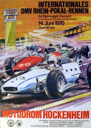 F2 Hockenheim, 1970 - original vintage poster by E Koch listed on AntikBar.co.uk