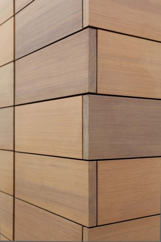 Wood Cladding Elevation : Exterior cladding wood and front elevation on