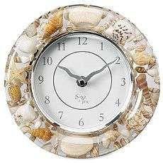 Seashell wall clock beachside pinterest wall clocks for Seashell clock