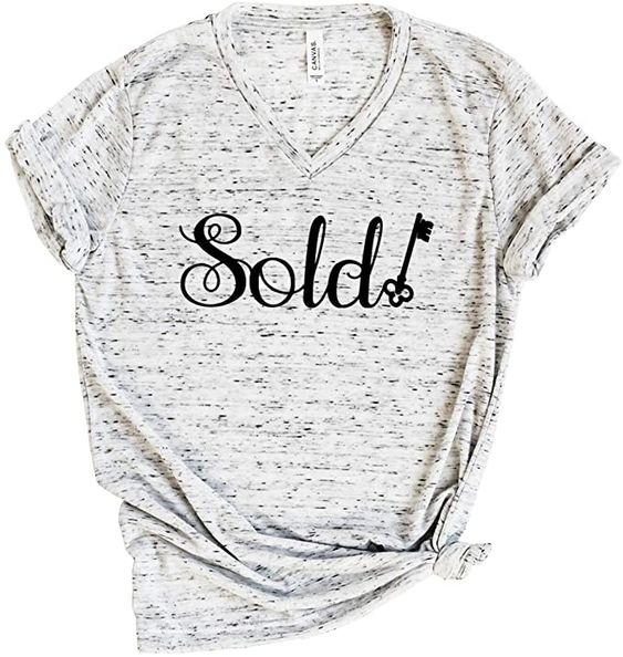 Amazon.com: Sold Realestate Tees Real Estate T-Shirts Womens Realestate Gifts Tshirts and Tees (WT-Marble, Medium): Clothing