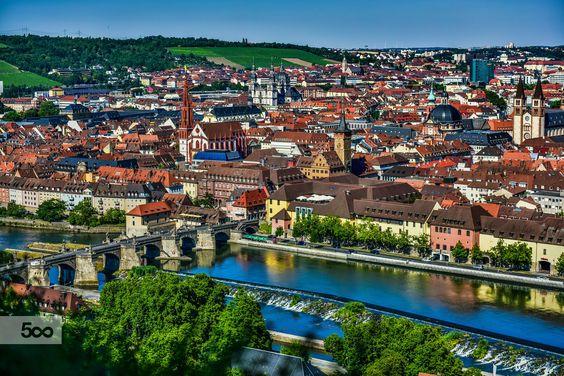 Fotografia Würzburg de Ender Senkaya na 500px - View of Würzburg and Tauber river from Marienberg Schloss, Germany