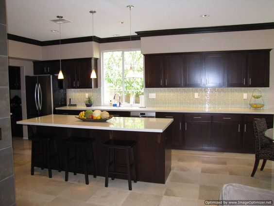 kitchen cabinets coquitlam kitchens with espresso cabinets espresso shaker ee 20215