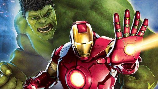 Imagen Promocional De Iron Man Y Hulk Héroes Unidos En
