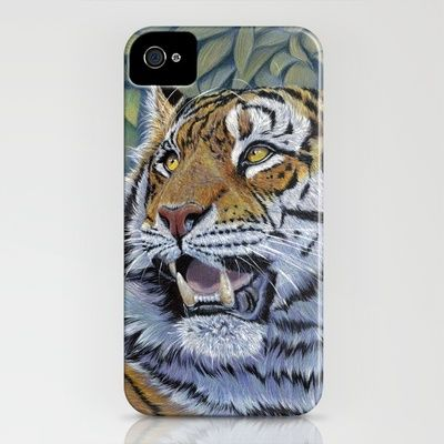 Tiger 807 iPhone Case by S-Schukina - $35.00