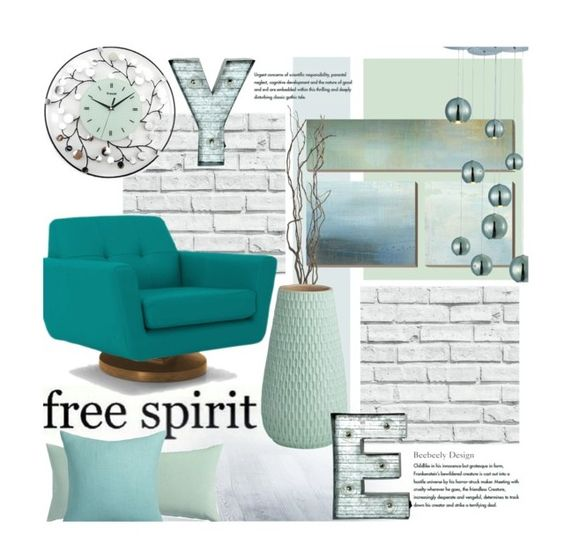 """""""Free Your Mind"""" by beebeely-look ❤ liked on Polyvore featuring interior, interiors, interior design, home, home decor, interior decorating, CB2, Crystal Art, Maxim and Joybird Furniture"""