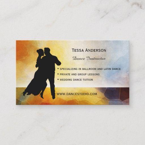 Ballroom Dance Instructor Business Card Zazzle Com Dance Background Dance Instructor Ballroom Dance