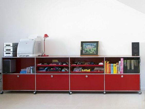 USM HALLER STORAGE FOR KID'S ROOM Storage unit by USM Modular Furniture design Fritz Haller