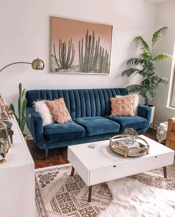 ~ Tiny living room vibes ~ Think you need a giant living room to make it a stylish space? Think again! 🌵⁠ ⁠ This living room by…