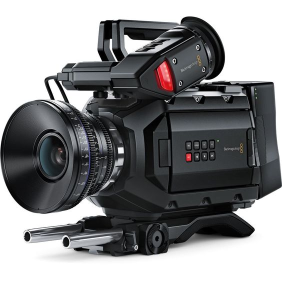 Blackmagic Design URSA Mini 4.6K Digital Cinema Camera (EF-Mount). Super-35mm CMOS Sensor. 4608 x 2592 Video up to 60p. Compressed Raw Recording. Ready-to-Edit ProRes 444 + 422 Recording. Dual CFast 2.0 Memory Card Slots.