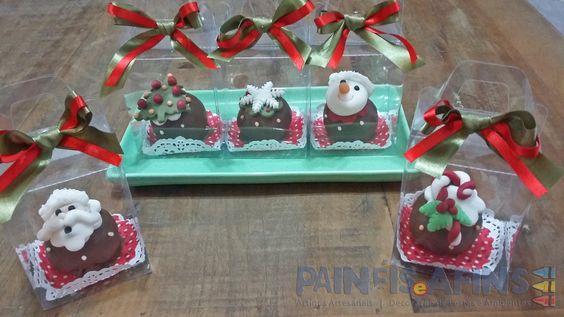 Embalagens individuais valorizam os deliciosos bolinhos #cakeball #Natal #guloseimas