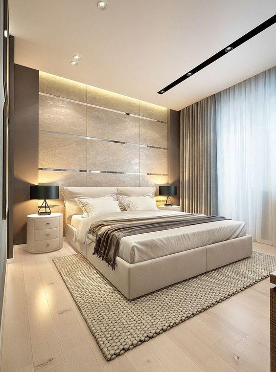 寝室 建築化照明例