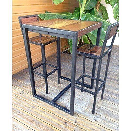 Mathi Design Mange Debout Bois Acier Factory Amazon Fr Cuisine Maison Moveis Industriais Moveis Estilo Industrial Ideias De Decoracao Para Casa