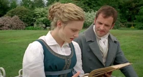 Jane Austen's 'Emma' movie images - Google Search    (Emma [Romola Garai] & Mr. Knightley [Jonny Lee Miller]):