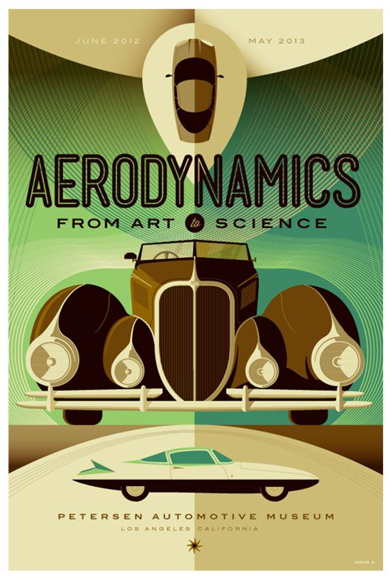petersen automotive museum : aerodynamics poster by strongstuff