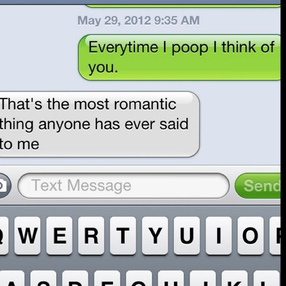 Haha, so romantic.
