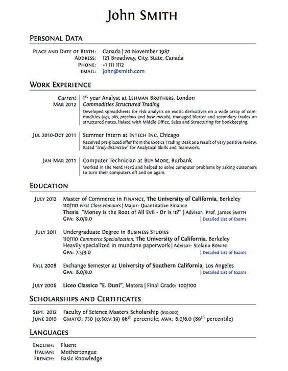 Elegant, professional and modern resume templates Resumonk My - high school graduate resume templates