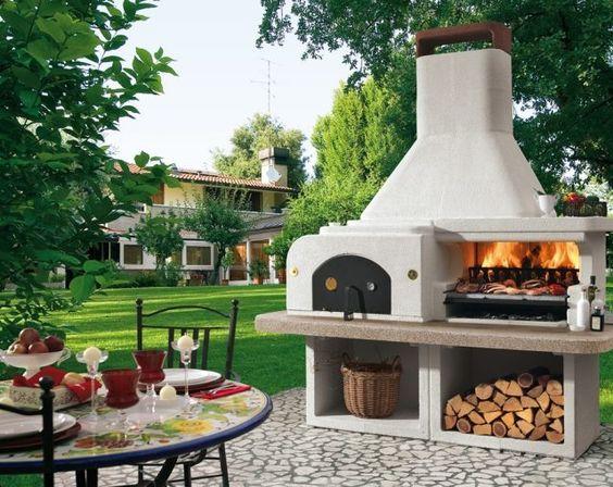 barbecue ext rieur par palazzetti plaisir de griller en plein air pizza design et barbecue. Black Bedroom Furniture Sets. Home Design Ideas