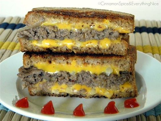 Award Winning 'Grilled Cheese' Burgers   Recipe   Katie ...