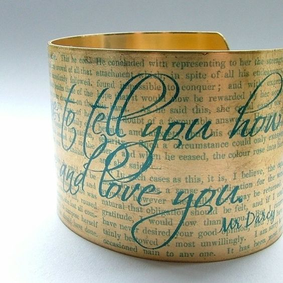 Jane Austen - Mr. Darcy Proposal Cuff Bracelet
