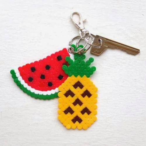 DIY Funky Fruity Key Chains