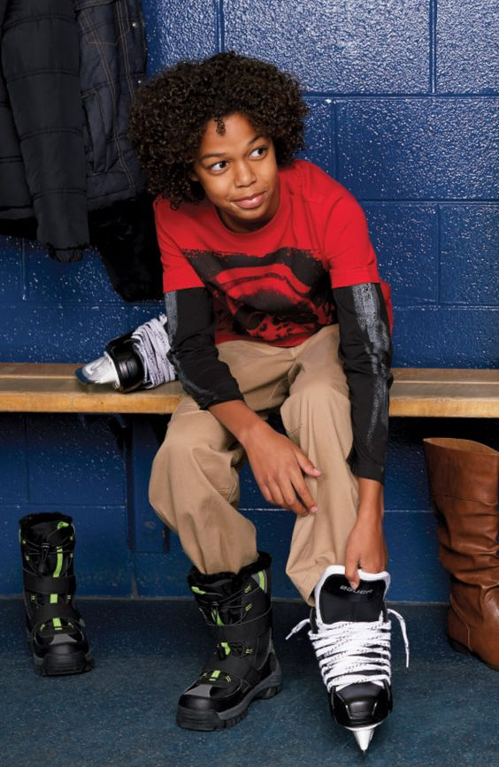 Jeunes joueurs de hockey #patins