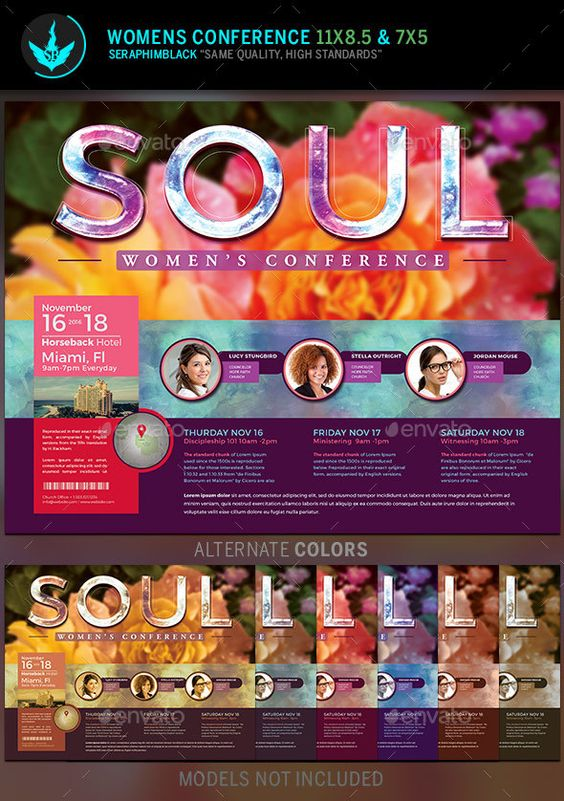 Soul: Women's Conference Flyer Template | Concerts, Flyers and ...