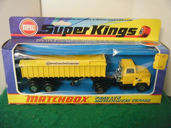 "Matchbox Superkings No: K-18 ""Ford Artic Tipper"" (United States Steel Corp)"