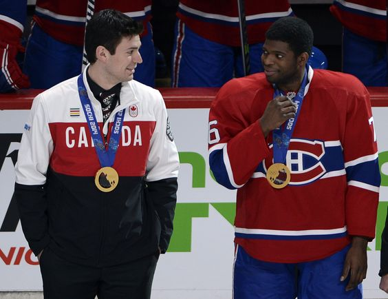 Carey Price, PK Subban, Sotchi 2014 Canadiens Montreal