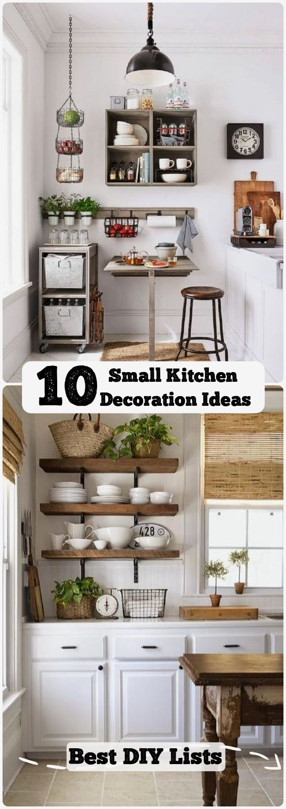 10 Clever Ideas For Small Kitchen Decoration Best Diy Lists Kitchen Remodel Small Small Kitchen Decor Small Kitchen Decoration
