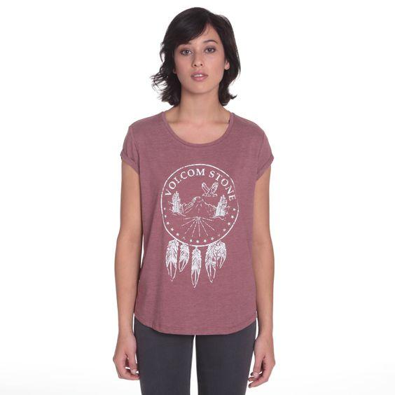 Tee Shirt Manches Courtes Avec OurletSérigraphie À L'AvantEtiquette Volcom Sur…
