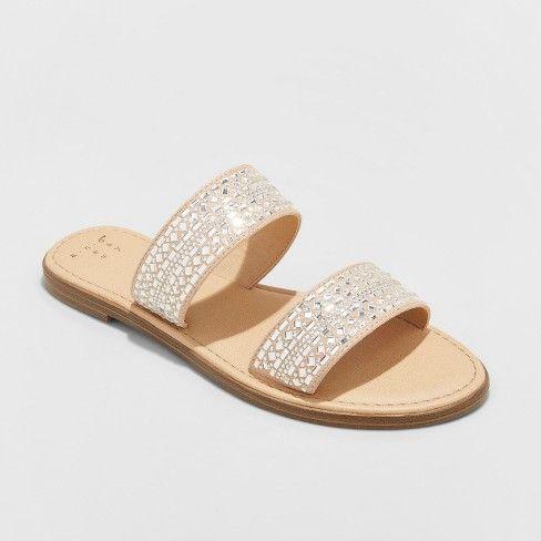 Kersha Embellished Slide Sandals