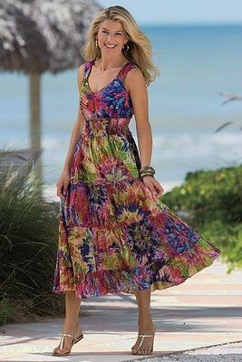 Pretty sundress - Fashion tips for Women Over 50. (as for me...I'd ...